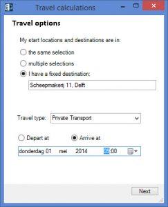 E-Maps Mobility menu