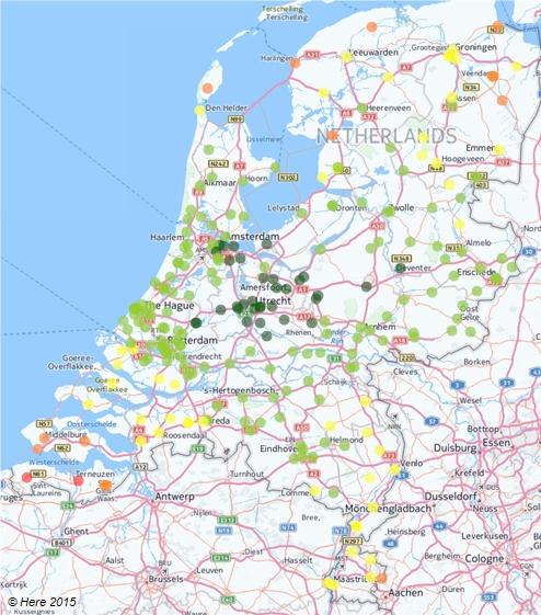 Bereikbaarheid ziekenhuizen met OV vanuit Amersfoort