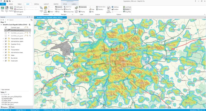MapInfo Pro heatmap