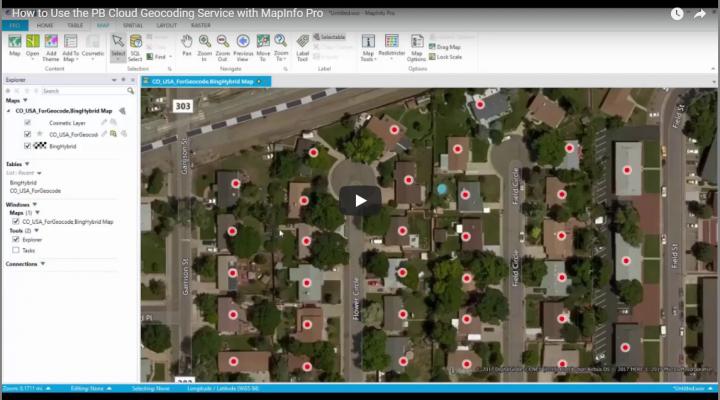 MapInfo pro geocoding service