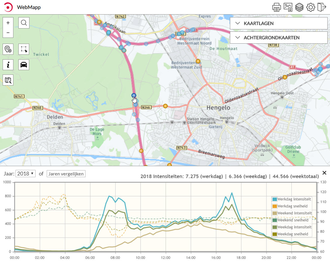 Web Map verkeer
